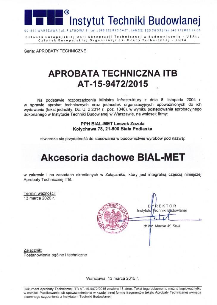 Aprobata techniczna ITB